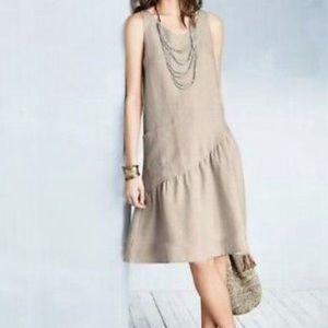Garment Hill Linen Trapeze Dress NWOT